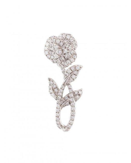 Yvonne Léon   Multicolor Rose Stem Diamond Earring   Lyst