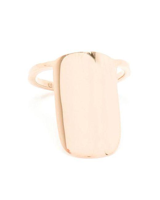 Asherali Knopfer   Metallic Rose Gold Nail Ring   Lyst