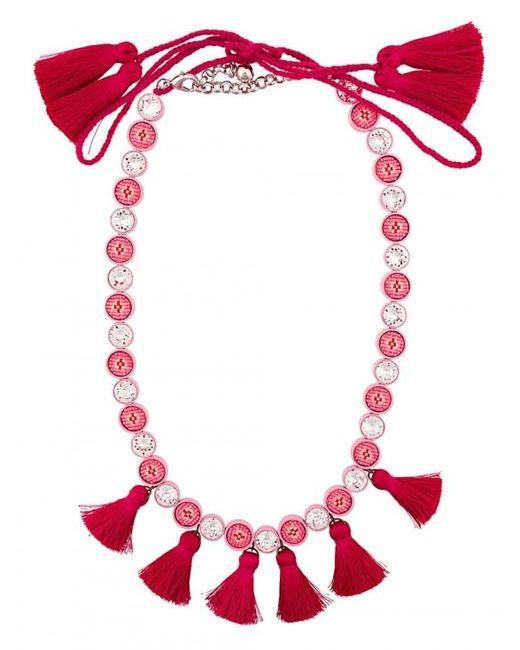 Shourouk | Sautoir Tassel Necklace - Pink | Lyst