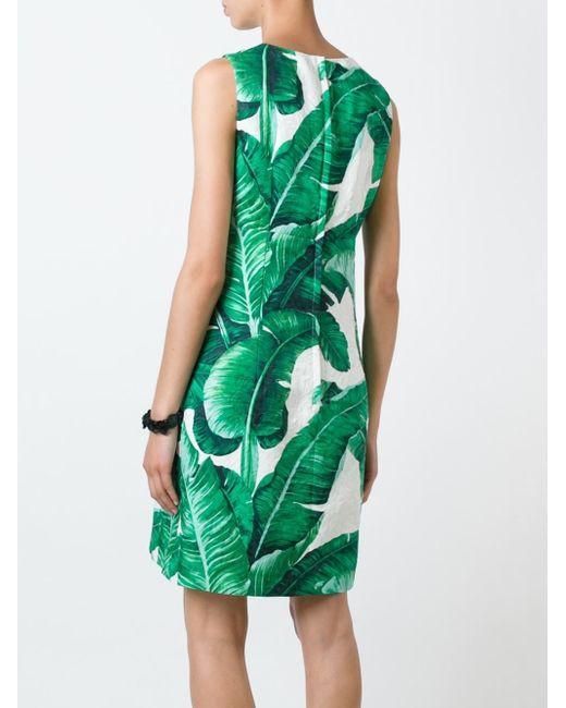 b8f43c21076 Dolce Gabbana Green Dress