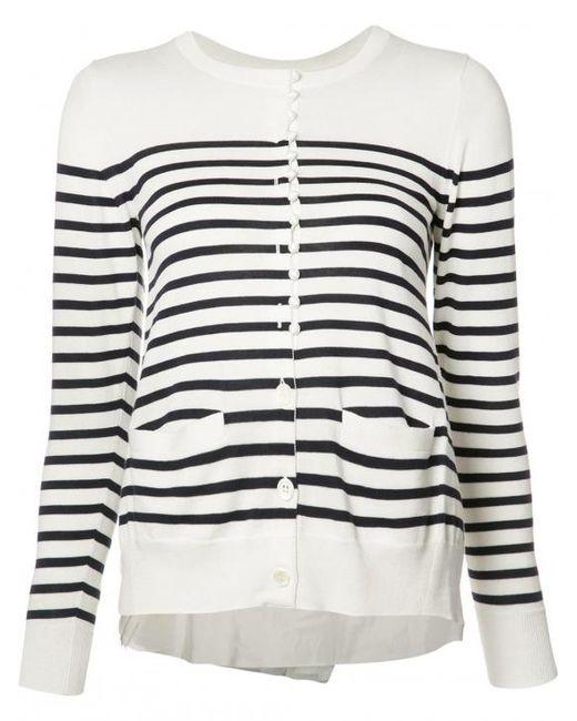 Sacai | Multicolor Striped Cardigan | Lyst
