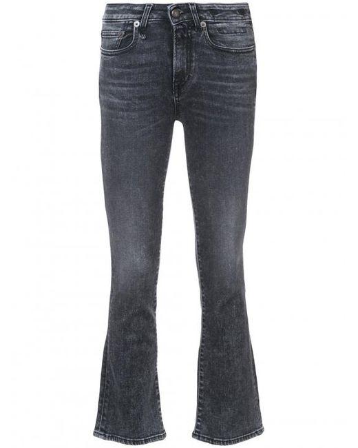 R13 | Blue Kick Fit Crop Jeans | Lyst