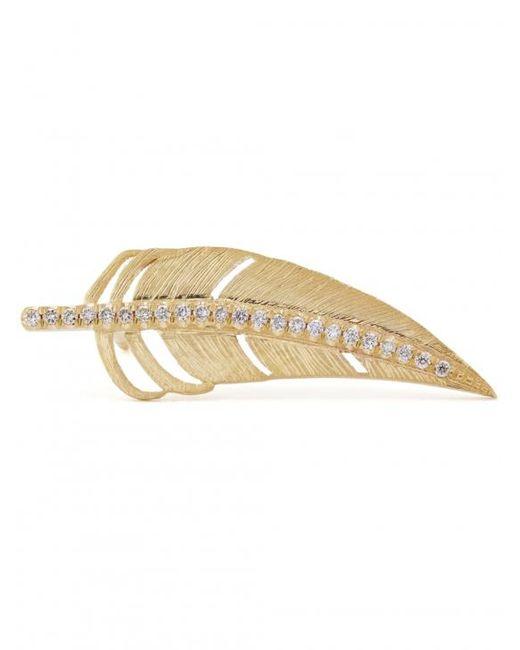 Shelly Zucker Jewelry - Metallic Diamond Feather Earring - Lyst