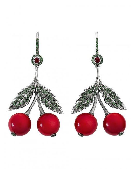 Axenoff Jewellery   Red Cherry Garnets Earring   Lyst