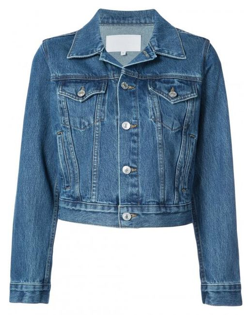 Re/done - Blue Classic Trucker Jacket - Lyst