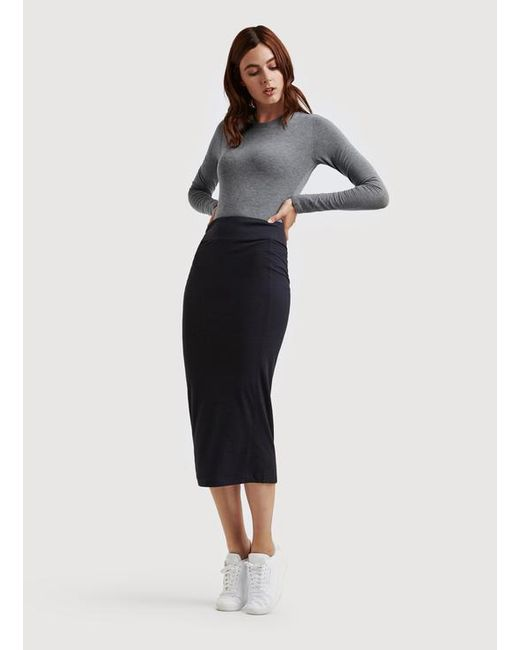 Kit and ace Long And Lean Pencil Skirt in Blue | Lyst