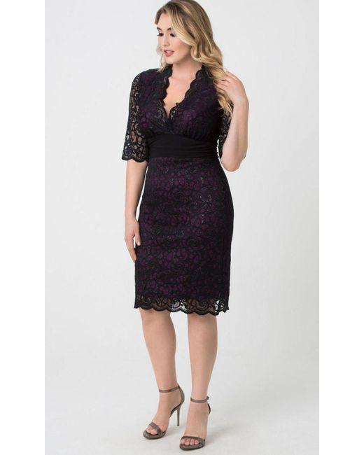 4e43e926425 ... Kiyonna - Black Lumiere Lace Dress - Lyst