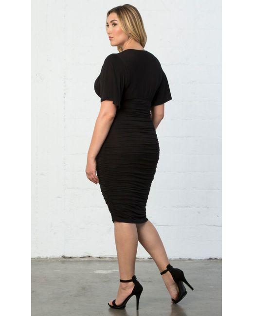32a36638aea Lyst - Kiyonna Rumor Ruched Dress in Black - Save 62%