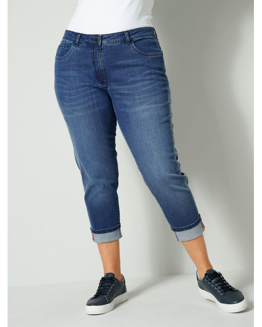 Janet & Joyce 7/8-jeans in het Blue