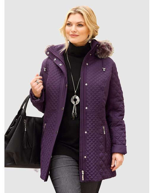 m. collection Purple Steppjacke