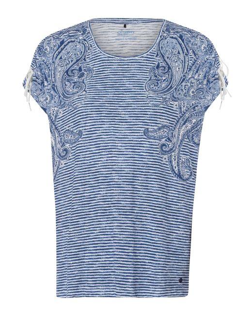 Olsen Blue Rundhalsshirt mit dezenten Glitzersteinchen