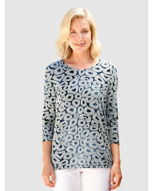 Paola Blue Shirt Marineblau::Weiß