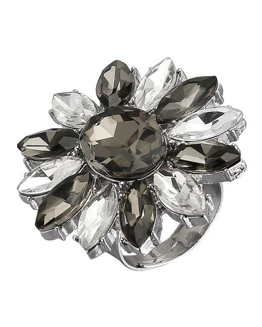 Love Inspiration Damesring Met Glasstenen in het Metallic