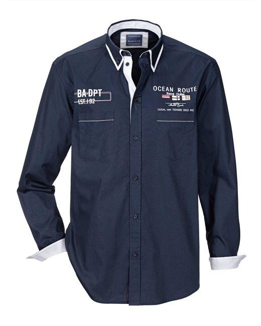 Babista Overhemd Marine in het Blue voor heren