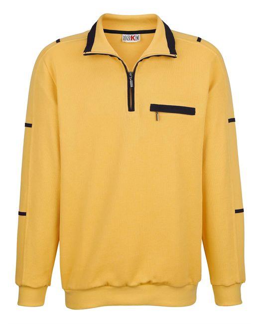 Roger Kent Sweatshirt in het Yellow voor heren