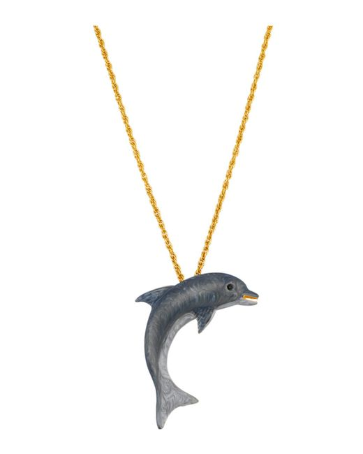Golden Style Hanger Dolfijn Met Ketting in het Gray