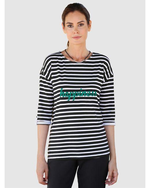 Laura Kent Black Shirt Schwarz::Weiß
