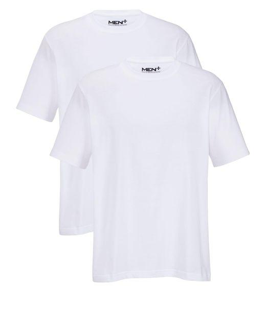 Men Plus T-Shirts Weiß in White für Herren