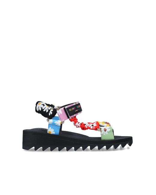 Kurt Geiger Green Multi Floral Sporty Sandals