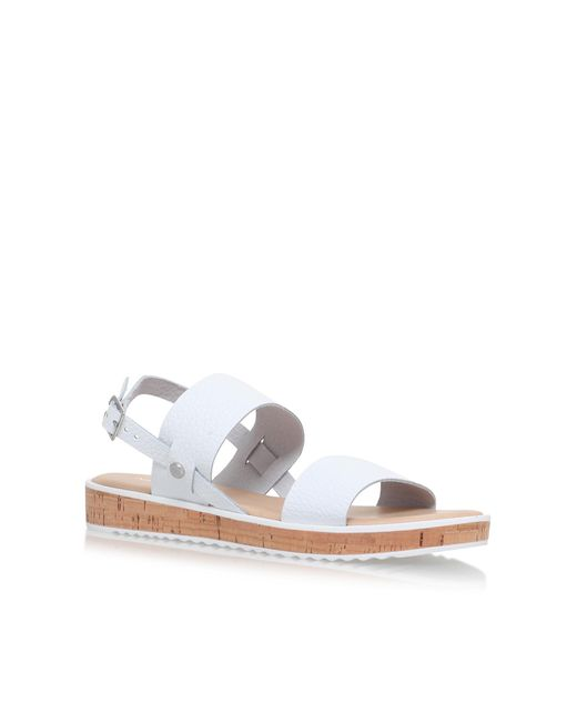 Nine West | White Gia Flat Sandals | Lyst