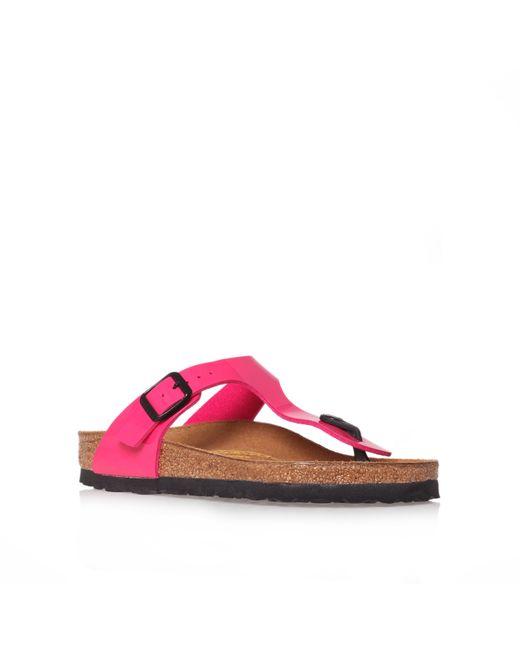 Birkenstock | Pink Gizeh Soft Footbed Thong Sandal | Lyst