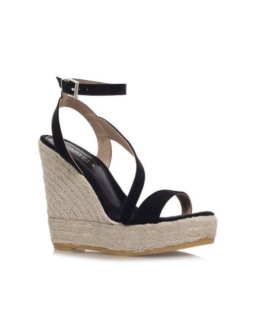 Carvela Kurt Geiger | Natural Klassy High Wedge Heel Strappy Sandals | Lyst