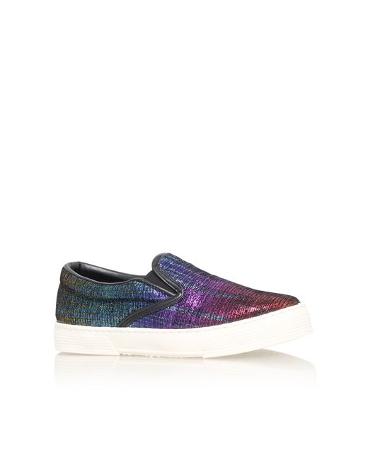 Kurt Geiger | Multicolor London Combination Flat Slip On Trainers | Lyst