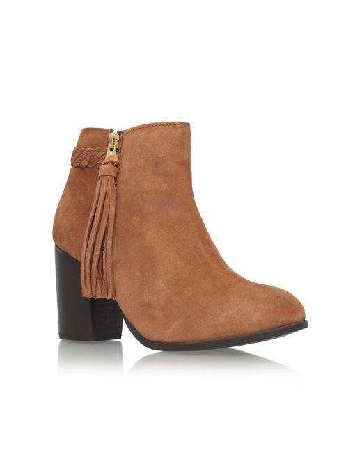 Carvela Kurt Geiger | Brown Tegan High Heel Zip Ankle Boots | Lyst