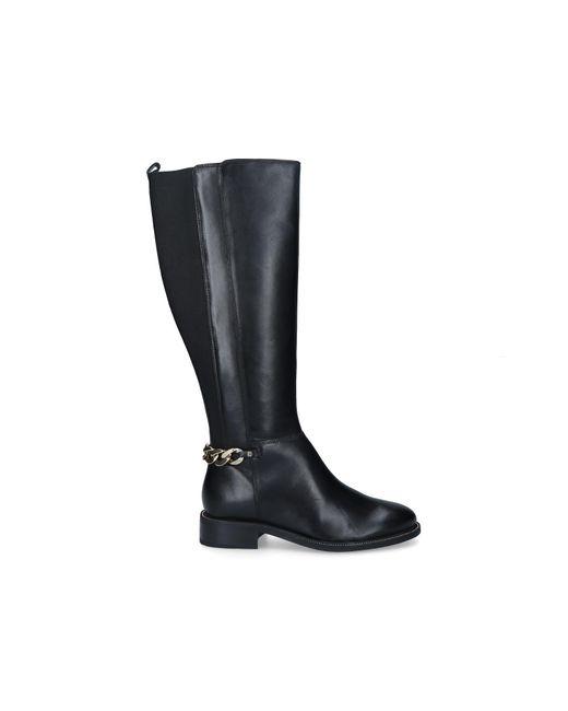 Carvela Kurt Geiger Black Chain Knee High Boots