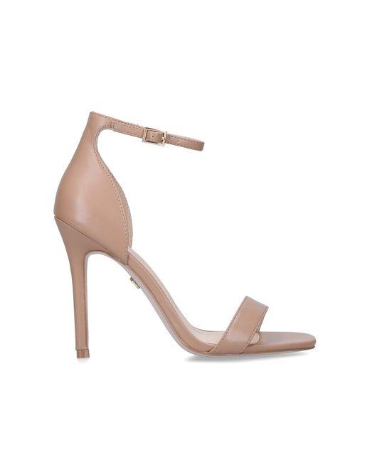 KG by Kurt Geiger Multicolor Camel Stiletto Heel Strappy Sandals