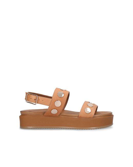 Kurt Geiger Brown Makenna Leather Sandals