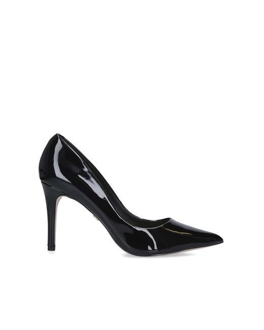 KG by Kurt Geiger Black Patent Court Shoe