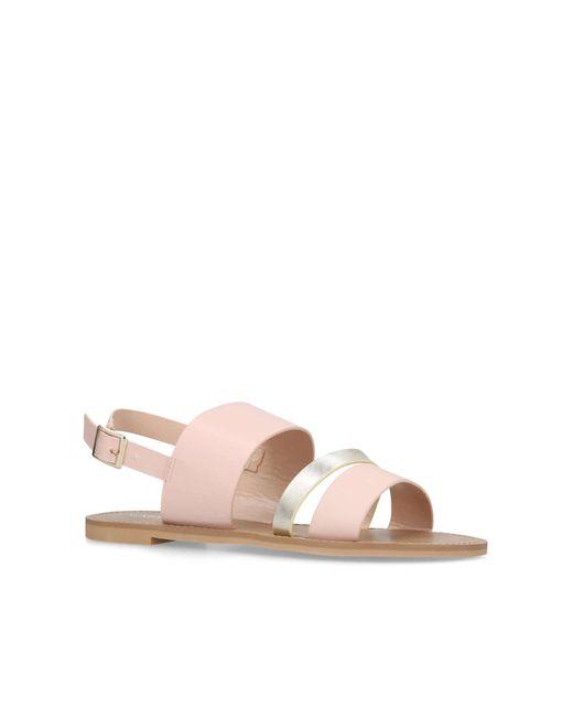 Carvela Kurt Geiger - Natural Nude 'blink' Flat Sandals - Lyst