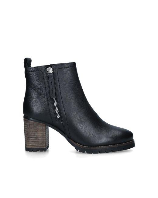 Carvela Kurt Geiger Black Leather Mid Heel Ankle Boots