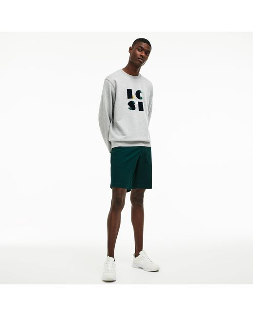 9fe24e9c75 Men's Green Slim Fit Stretch Gabardine Shorts