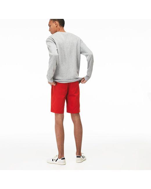 f33ca96931 Men's Red Slim Fit Stretch Gabardine Shorts