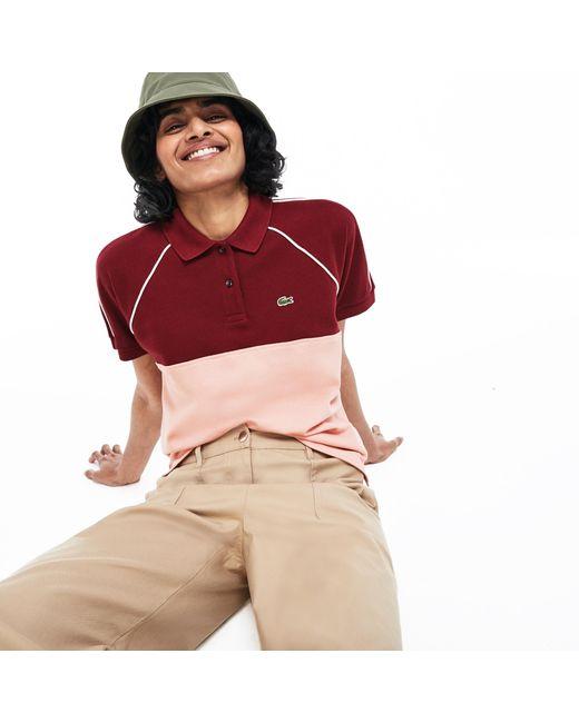 Lacoste Red Slim Fit Petit Piqué Polo Shirt