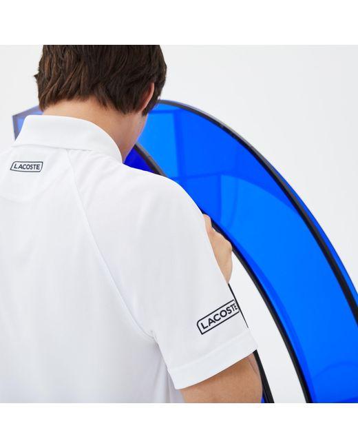 4e3c90e0d ... Lacoste - White Polo X Novak Djokovic - Exclusive Edition for Men -  Lyst ...