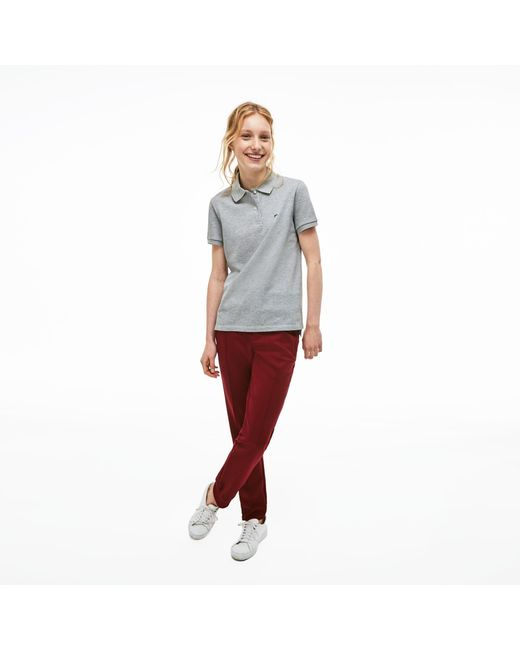 Lacoste Gray Classic Fit Soft Cotton Petit Piqué Polo Shirt