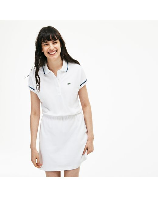 Lacoste - White 85th Anniversary Limited Edition Piqué Polo Dress - Lyst