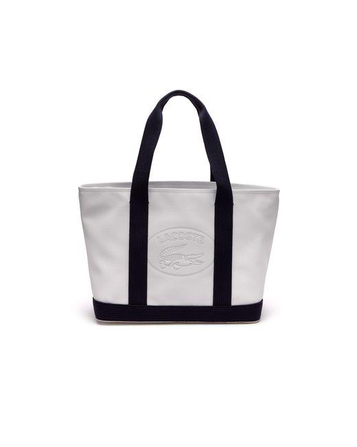 Lacoste - Multicolor Classic Coated Piqué Canvas Zip Tote Bag - Lyst