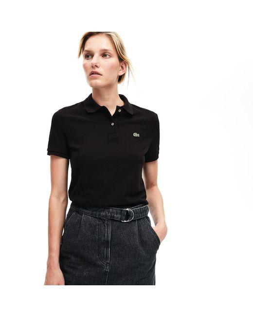 Lacoste Black Classic Fit Soft Cotton Petit Piqué Polo Shirt