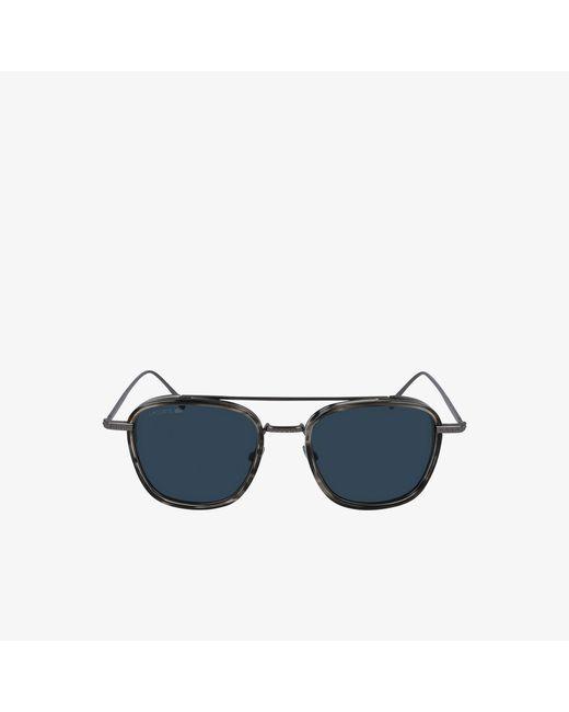 Lacoste Modified Rectangle Metal Novak Djokovic Capsule Sunglasses For Men Lyst