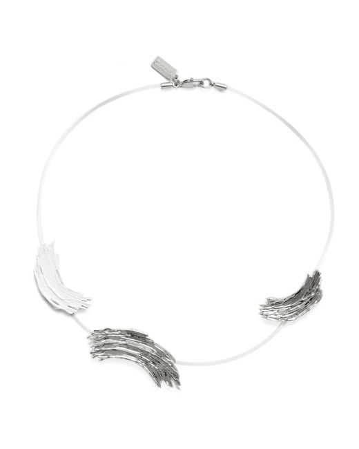 Lady Grey - Multicolor Alma Necklace In Rhodium And White - Lyst