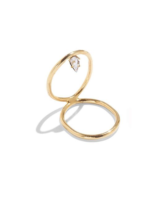 Lady Grey | Metallic Crystal Infinity Ring In Gold With Swarovski Crystal | Lyst