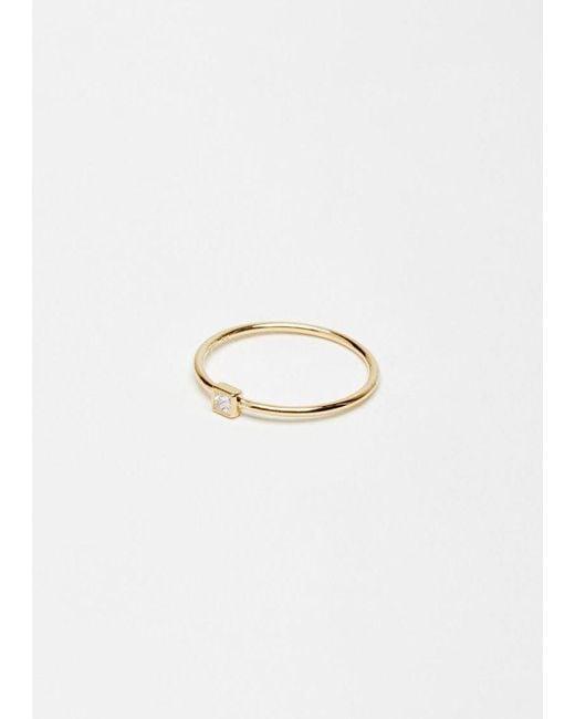 Shihara   Metallic Petite Square Ring   Lyst