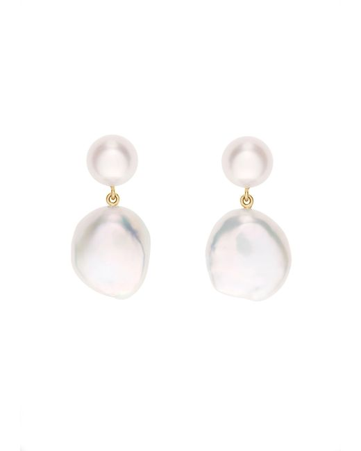 Sophie Bille Brahe Metallic Venus Blanc Earrings