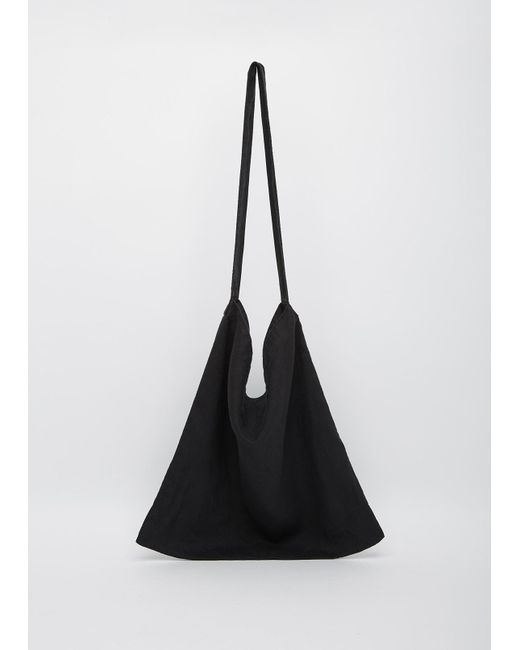 Moderne | Black Linen Sling Bag | Lyst