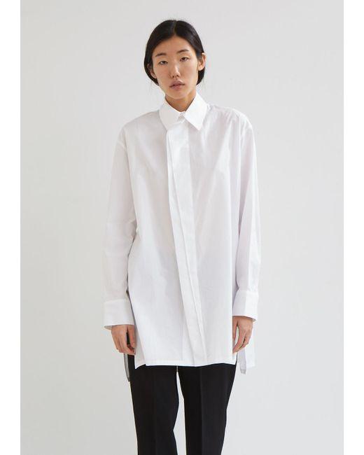 Yohji Yamamoto - White Gore Cotton Button Front Shirt - Lyst