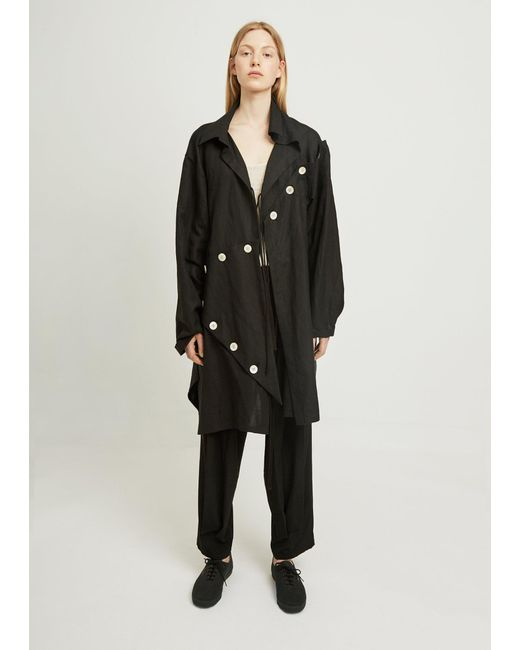 Yohji Yamamoto - Black Easy Cloth Button Patched - Lyst